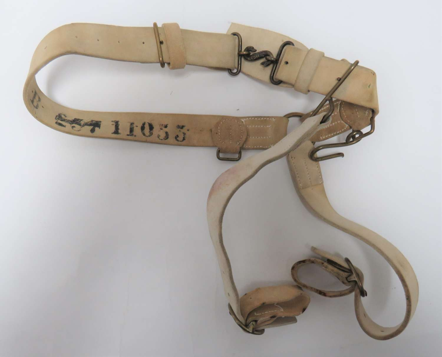 Rare Victorian 1885 Pattern Cavalry Troopers Buff Leather Belt