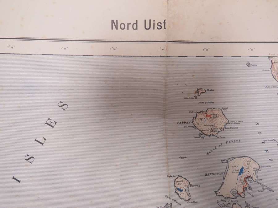 WW 2 German Invasion Map of the Hebrides
