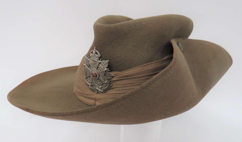 1944 Dated Border Regiment Far East Bush ( Slouch ) Hat