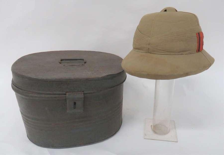 WW2 Royal Engineers Tropical Pith Helmet
