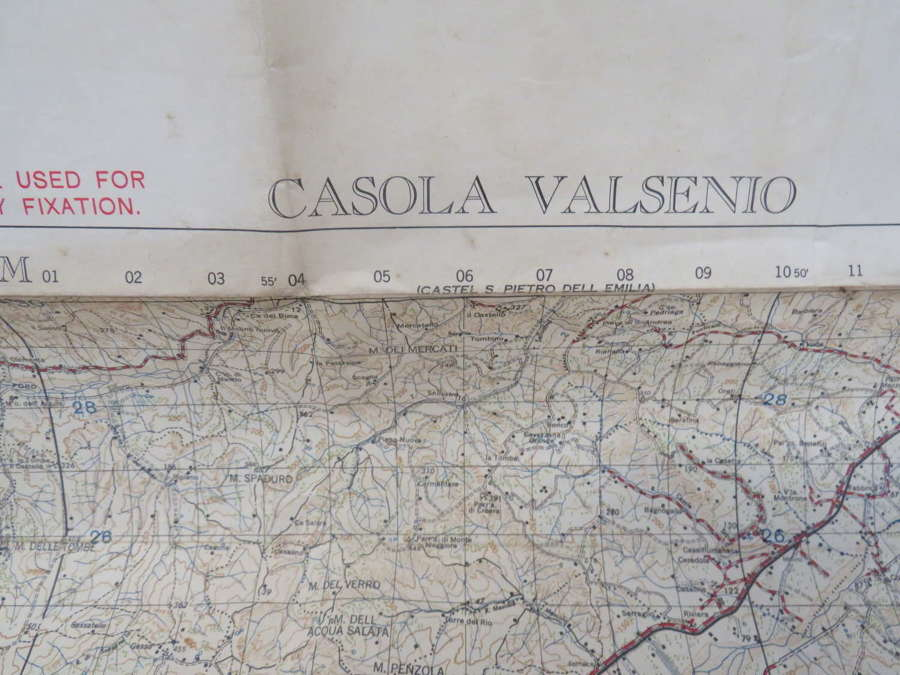 WW2 Battle Map of the Italian Eastern Gothic Line