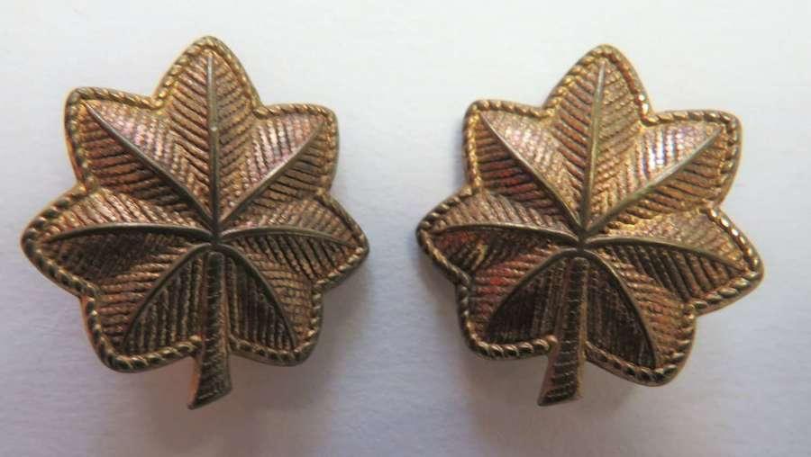 Pair of WW2 American Majors Rank Badges